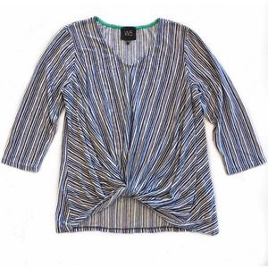 [Anthropologie] W5 Striped Knot Front Tee